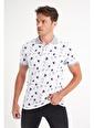 Avva Erkek  Polo Yakalı Baskılı Tişört A01Y1124 Beyaz
